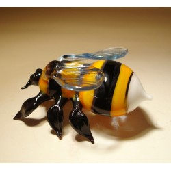 Glass Bumble Bee Figurine