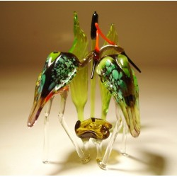 Glass Herons in the Reed Figurine