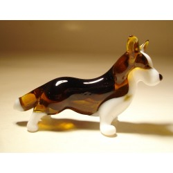Glass Dog Pembroke Welsh Corgi