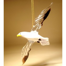 Glass Seagull Ornament
