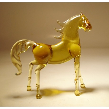 Glass Horse Figurine