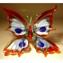 Red, White, Blue Glass Butterfly