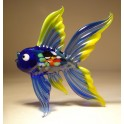 Blue Glass Fish Figurine