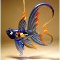 Blue and Red Hanging Fish Figurine Ornament