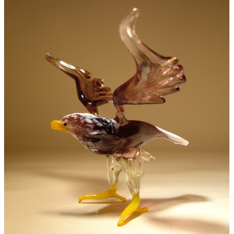 Glass Eagle - Blown glass eagle figurine