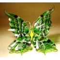 Green, Yellow & Black Striped Glass Butterfly