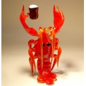 Glass Lobster with a Beer Keg