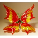 Red and Yellow Glass Butterfly