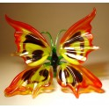 Red, Yellow and Black Glass Butterfly Figurine