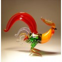 Glass Red Fighter Rooster