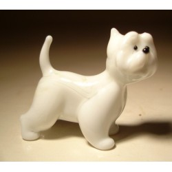Glass Dog West Highland Terrier