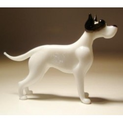 Glass Dog Great Dane White