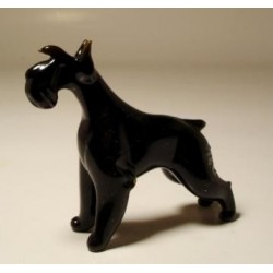 Glass Dog Schnauzer