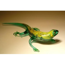 Green Glass Lizard Figurine