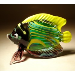 Glass Tropical Fish Figurine
