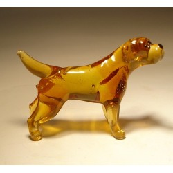 Glass Dog Yellow Lab
