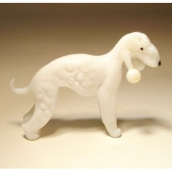 Glass Dog Bedlington Terrier