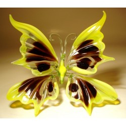 Yellow and Black Glass Butterfly Figurine